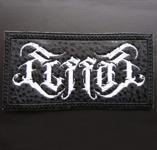 EMBROIDERED VINYL LEATHER LOGO PATCH