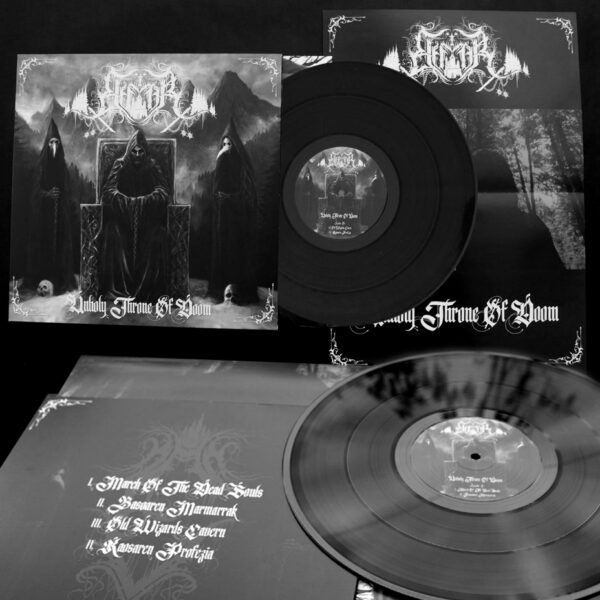 «UNHOLY THRONE OF DOOM» BLACK LP + A3 POSTER